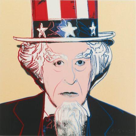 Screenprint Warhol - MYTHS: UNCLE SAM FS II.259