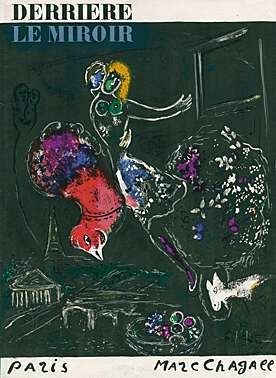 Lithograph Chagall - Nacht in Paris