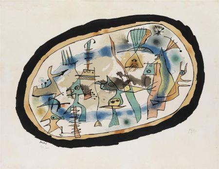 Lithograph Miró - Naissance du jour