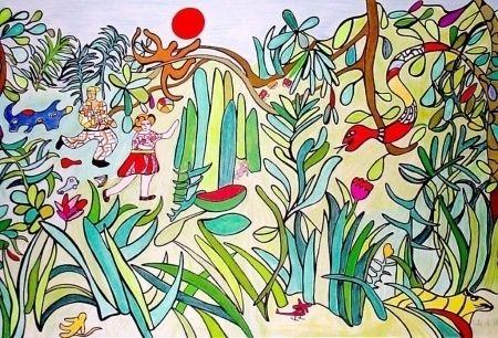 Lithograph De Saint Phalle - Nana