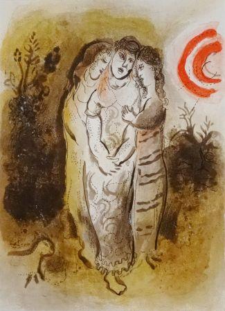 Lithograph Chagall - Naomi et ses belles-filles