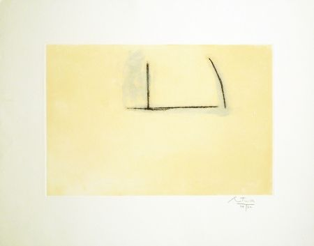 Etching And Aquatint Motherwell - Naples Yellow Open
