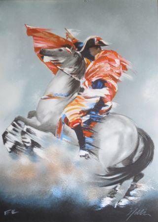Lithograph Spahn - Napoleon bonaparte