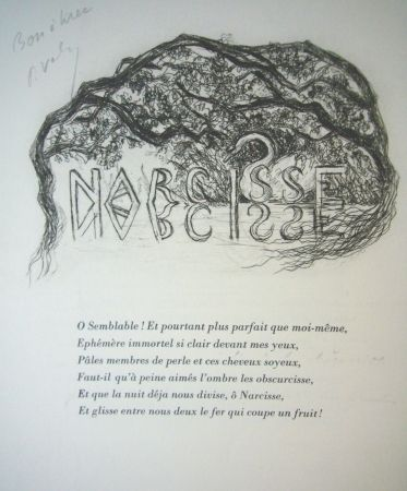 Drypoint Valery - Narcisse