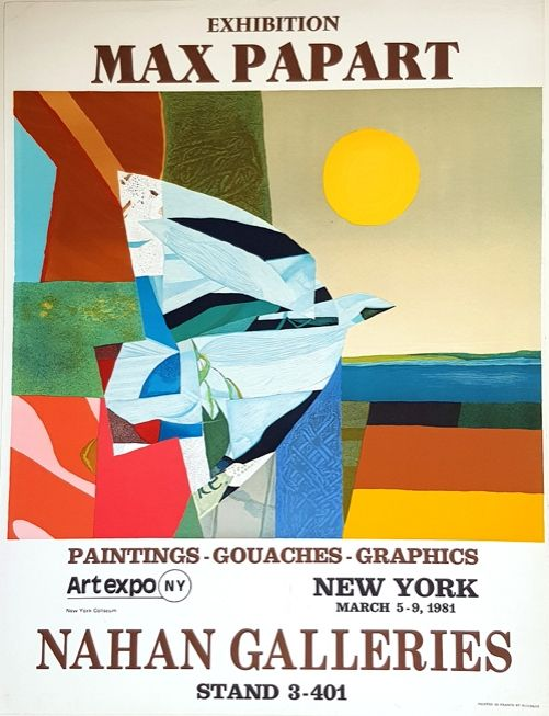 Lithograph Papart - Nathan Galleries Exhibition  New york 1981