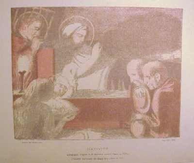 Lithograph Denis - Nativité