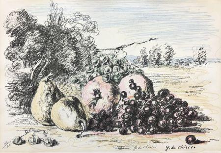 Lithograph De Chirico - Natura morta