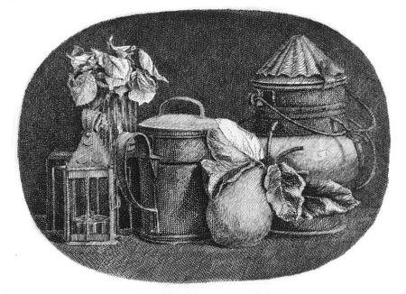 Engraving Mongatti - Natura morta