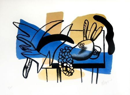 Lithograph Leger - Nature Mort aux Fruits