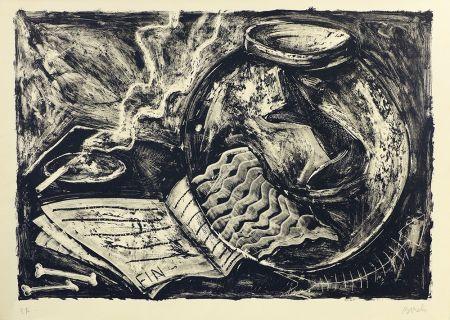 Lithograph Barcelo - Nature morte
