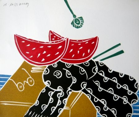 Linocut Fassianos - Nature morte