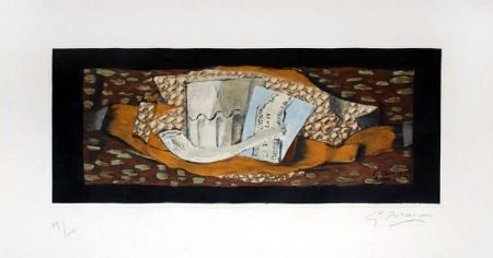 Etching And Aquatint Braque - Nature Morte à la Pipe (Still Life with Pipe), 1959
