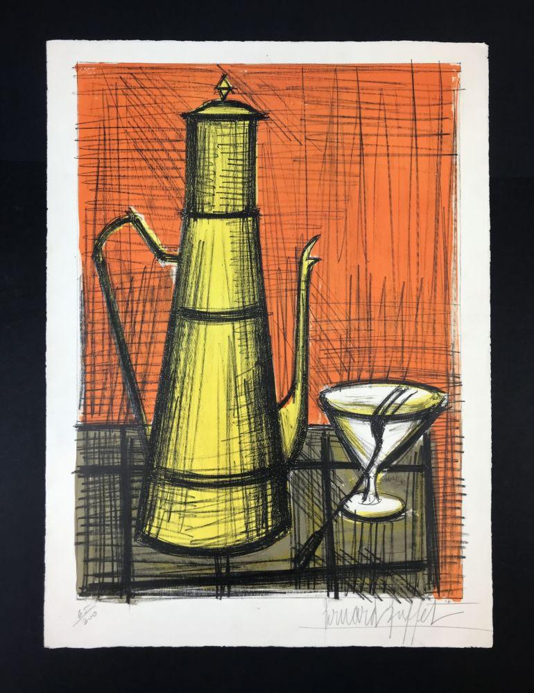 Lithograph Buffet - NATURE MORTE A LA CAFETIERE