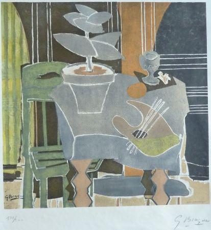 Lithograph Braque - Nature Morte a La Palette