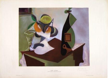 Lithograph Picasso - Nature Morte au Citron et aux Oranges