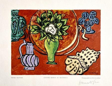 Woodcut Matisse - Nature Morte au Magnolia