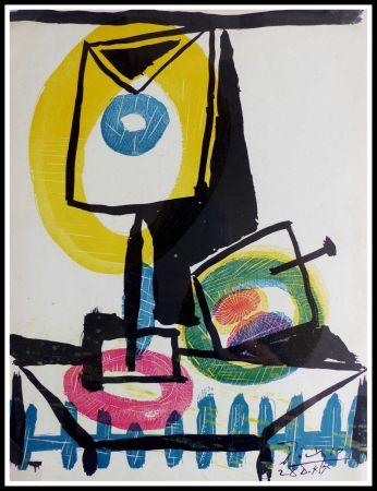 Lithograph Picasso (After) - NATURE MORTE AU VERRE