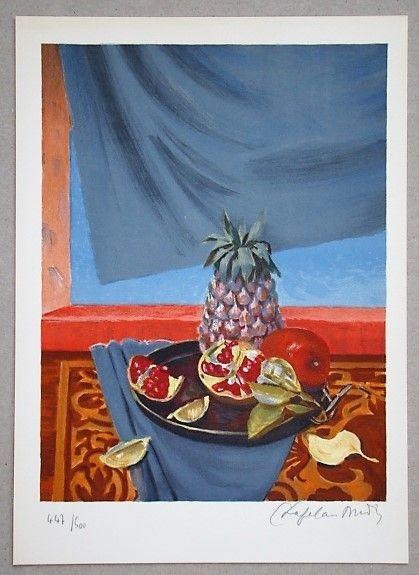 Lithograph Chapelain-Midy - Nature Morte aux Ananas et Grenades