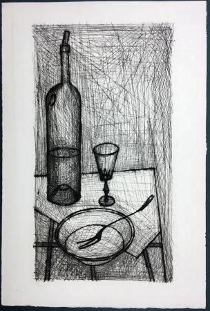 Engraving Buffet - Nature morte pour Recherche de la Purété (1953)