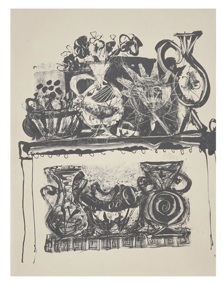 Lithograph Clavé - Nature morte / Still life