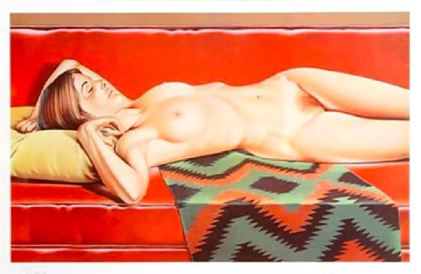 Lithograph Ramos - Navajo Nude