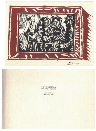 Linocut Picasso - '' Navidad 1963 ''