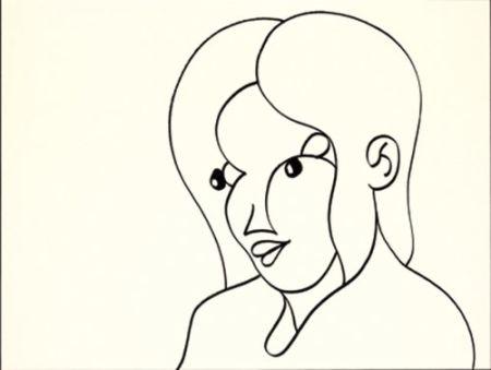 Lithograph Macías - Negro 1