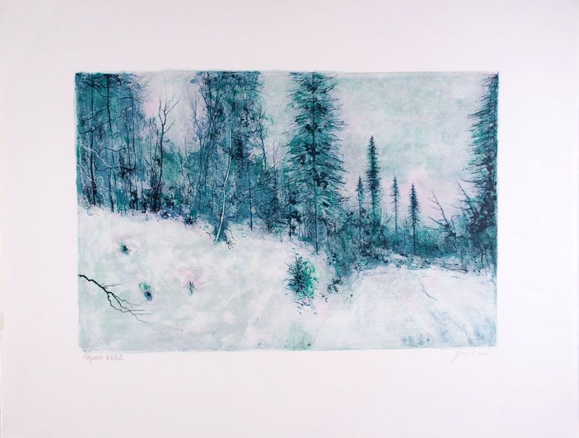 Lithograph Gantner - Neige I - Snow I