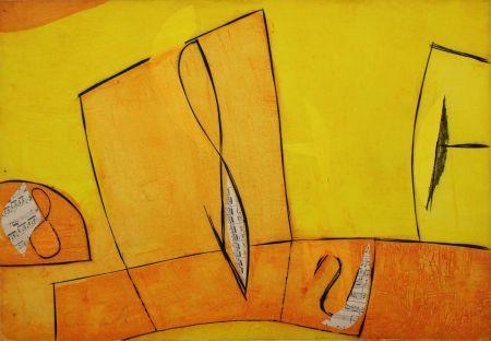 Etching Cascella - Nel giorno assoluto giallo