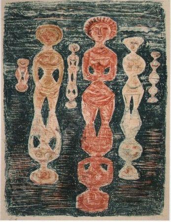 Lithograph Campigli - Nelle risaie