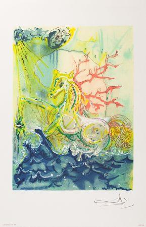 Lithograph Dali - Neptune