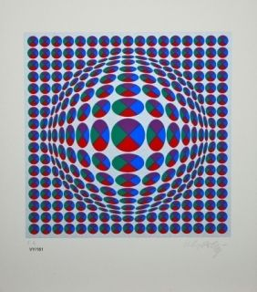 No Technical Vasarely - Neptune Argent