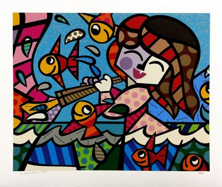 Screenprint Britto - NEPTUNE'S DAUGHTER