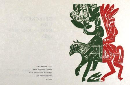 Woodcut Grieshaber - Neujahrsritt