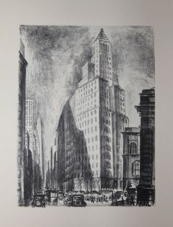 Lithograph Lubbers - NEW-YORK