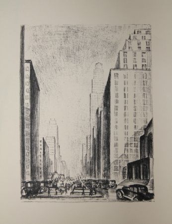 Lithograph Lubbers - NEW-YORK / BROADWAY