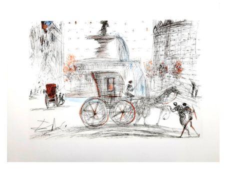 Lithograph Dali - New-York City : Plaza