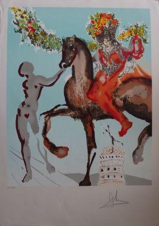 Lithograph Dali - New Jerusalem - Le mariage mystique