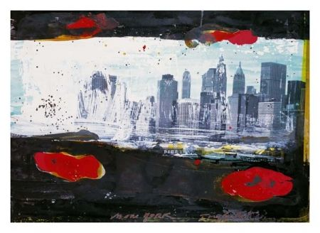Lithograph Soulie - New York