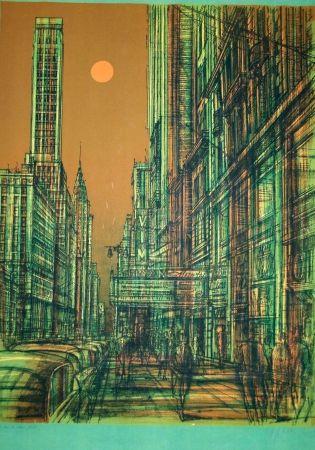 Lithograph Carzou - New york