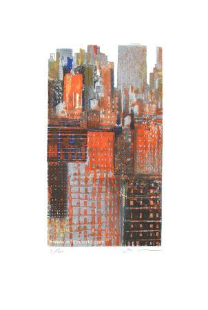 Etching And Aquatint Salzmann - New York Découpée