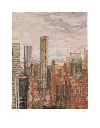Etching And Aquatint Salzmann - New York rose