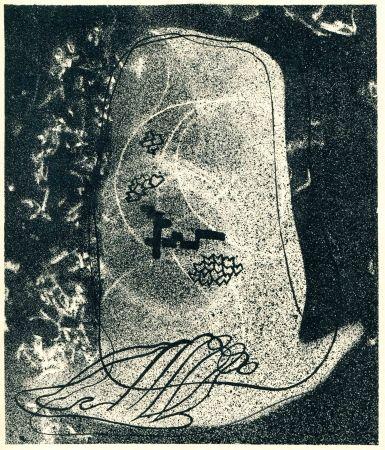 Lithograph Styrsky -  NEZVAL (Vitezslav). Zidovsky hrbitov (Le Cimetière juif).