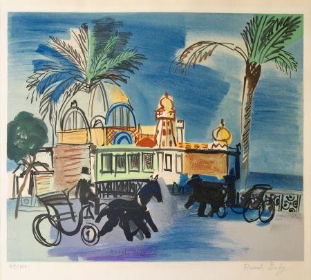 Lithograph Dufy - Nice - le Casino de la Jetée aux deux