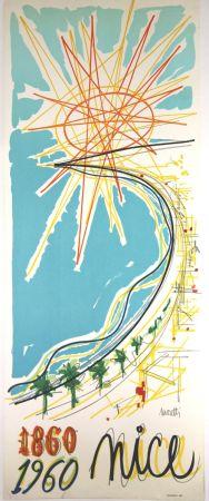 Lithograph Moretti - Nice 1860 1960