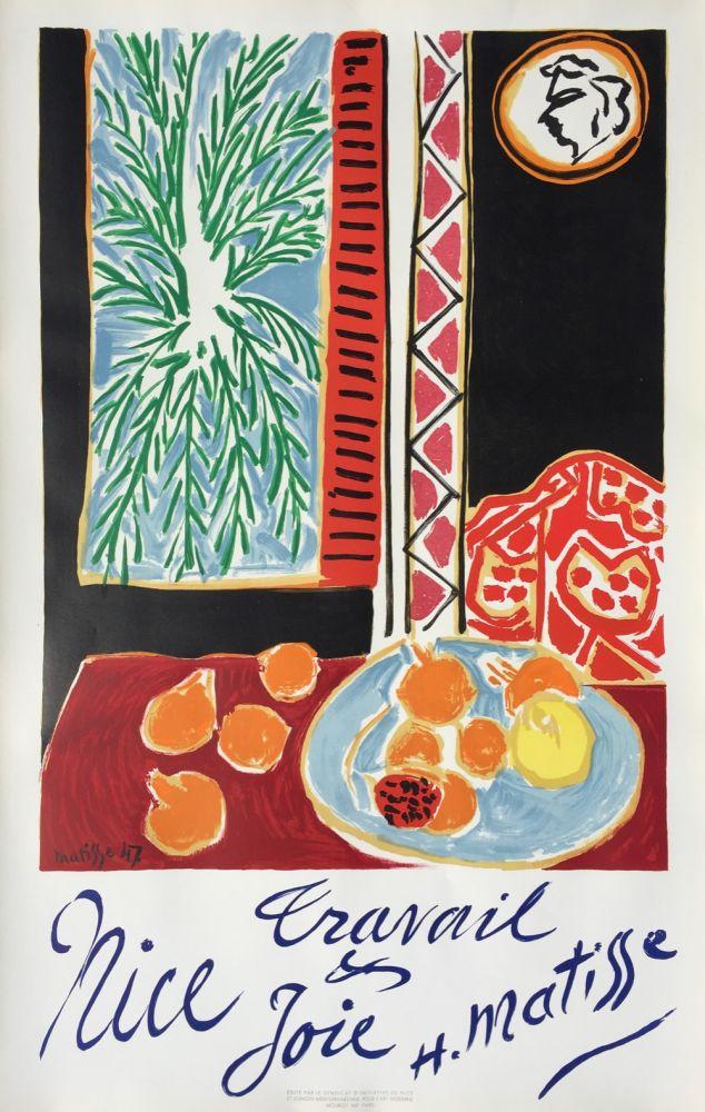 Lithograph Matisse - Nice Travail et Joie