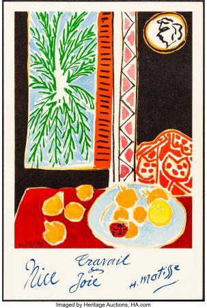 Lithograph Matisse - Nice, Travail et joie