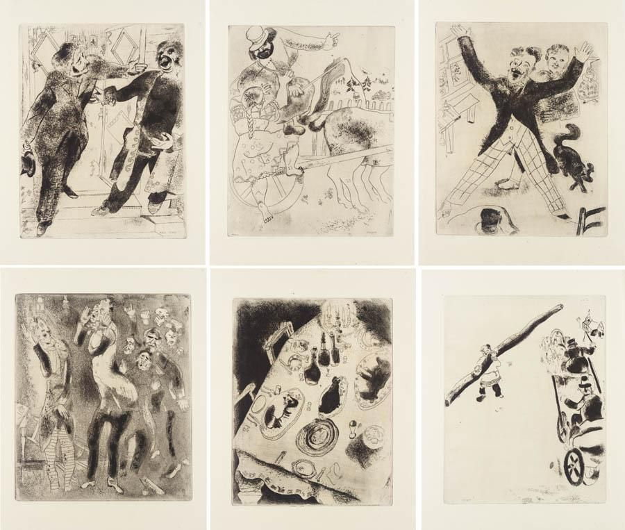 Illustrated Book Chagall - Nicolas Gogol : LES ÂMES MORTES. Eaux-fortes originales de Marc Chagall