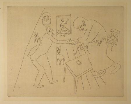 Engraving Chagall - (Nicolas Gogol, Les Ames Mortes,12)