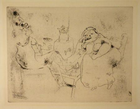 Engraving Chagall - (Nicolas Gogol, Les Ames Mortes, 18)